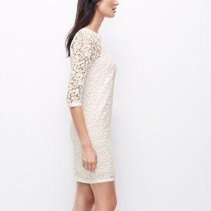 Ann Taylor Dresses - NWT Ann Taylor white lace shift dress